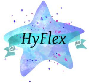 HyFlex word in blue star
